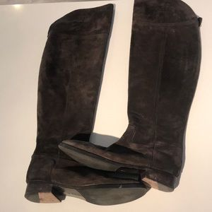 Tory Burch over the knee suede boots